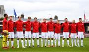 13 October 2021; Poland players before the UEFA U17 Championship Qualifying Round Group 5 match between Republic of Ireland and Poland at Turner's Cross in Cork. Photo by Eóin Noonan/Sportsfile