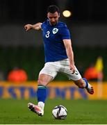 12 October 2021; Enda Stevens of Republic of Ireland during the international friendly match between Republic of Ireland and Qatar at Aviva Stadium in Dublin. Photo by Eóin Noonan/Sportsfile
