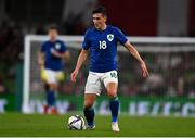 12 October 2021; Jamie McGrath of Republic of Ireland during the international friendly match between Republic of Ireland and Qatar at Aviva Stadium in Dublin. Photo by Eóin Noonan/Sportsfile