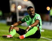 15 October 2021; Babatunde Owolabi of Finn Harps during the SSE Airtricity League Premier Division match between Waterford and Finn Harps at the RSC in Waterford. Photo by Michael P Ryan/Sportsfile