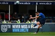 16 October 2021; Jonathan Sexton of Leinster kicks a conversion during the United Rugby Championship match between Leinster and Scarlets at the RDS Arena in Dublin. Photo by Harry Murphy/Sportsfile