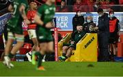16 October 2021; Sammy Arnold of Connacht serves his time in the sinbin, for a high tackle on Mike Haley of Munster, during the first half of the United Rugby Championship match between Munster and Connacht at Thomond Park in Limerick. Photo by Piaras Ó Mídheach/Sportsfile