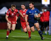 16 October 2021; Rónan Kelleher of Leinster in action against Johnny McNicholl of Scarlets during the United Rugby Championship match between Leinster and Scarlets at the RDS Arena in Dublin. Photo by Seb Daly/Sportsfile