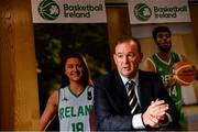 18 October 2021; John Feehan speaks to the media at the National Basketball Arena in Dublin after being announced as the new CEO of Basketball Ireland. Photo by Sam Barnes/Sportsfile