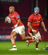 16 October 2021; Simon Zebo, left, and Tadhg Beirne of Munster during the United Rugby Championship match between Munster and Connacht at Thomond Park in Limerick. Photo by David Fitzgerald/Sportsfile
