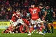 16 October 2021; Craig Casey of Munster during the United Rugby Championship match between Munster and Connacht at Thomond Park in Limerick. Photo by David Fitzgerald/Sportsfile