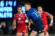 16 October 2021; Ciarán Frawley of Leinster during the United Rugby Championship match between Leinster and Scarlets at the RDS Arena in Dublin. Photo by Ramsey Cardy/Sportsfile