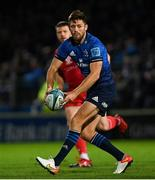 16 October 2021; Ross Byrne of Leinster during the United Rugby Championship match between Leinster and Scarlets at the RDS Arena in Dublin. Photo by Ramsey Cardy/Sportsfile