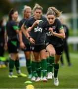 18 October 2021; Leanne Kiernan during a Republic of Ireland training session at the FAI National Training Centre in Abbotstown, Dublin. Photo by Stephen McCarthy/Sportsfile