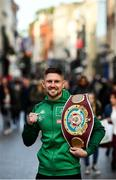 20 October 2021; Jason Quigley poses for a portrait after a media conference on Grafton Street in Dublin. Photo by David Fitzgerald/Sportsfile
