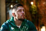 20 October 2021; Jason Quigley during a media conference at the Marlin Hotel, St Stephen's Green in Dublin. Photo by David Fitzgerald/Sportsfile