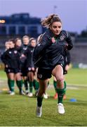 20 October 2021; Leanne Kiernan during a Republic of Ireland training session at Tallaght Stadium in Dublin. Photo by Stephen McCarthy/Sportsfile