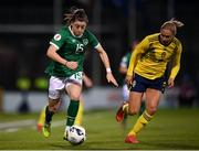 21 October 2021; Lucy Quinn of Republic of Ireland in action against Jonna Andersson of Sweden during the FIFA Women's World Cup 2023 qualifier group A match between Republic of Ireland and Sweden at Tallaght Stadium in Dublin. Photo by Stephen McCarthy/Sportsfile