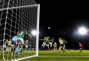 21 October 2021; Magdalena Eriksson of Sweden in action against Louise Quinn, left, and Lucy Quinn of Republic of Ireland during the FIFA Women's World Cup 2023 qualifier group A match between Republic of Ireland and Sweden at Tallaght Stadium in Dublin. Photo by Stephen McCarthy/Sportsfile