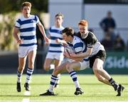22 October 2021; Cian Dennehy of Blackrock College in action against Dara Cosgrave of Newbridge College during the Bank of Ireland Leinster Schools Junior Cup Final match between Blackrock College and Newbridge College at Energia Park in Dublin. Photo by Piaras Ó Mídheach/Sportsfile