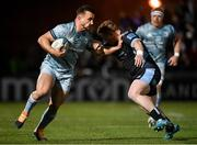 22 October 2021; Rónan Kelleher of Leinster is tackled by Jonny Matthews of Glasgow Warriors during the United Rugby Championship match between Glasgow Warriors and Leinster at Scotstoun Stadium in Glasgow, Scotland. Photo by Harry Murphy/Sportsfile