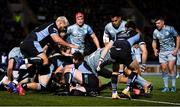 22 October 2021; Dan Sheehan of Leinster scores his side's fourth try during the United Rugby Championship match between Glasgow Warriors and Leinster at Scotstoun Stadium in Glasgow, Scotland. Photo by Harry Murphy/Sportsfile