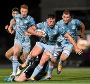 22 October 2021; Rónan Kelleher of Leinster, centre, supported by Ciarán Frawley and Ross Molony during the United Rugby Championship match between Glasgow Warriors and Leinster at Scotstoun Stadium in Glasgow, Scotland. Photo by Harry Murphy/Sportsfile