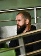 23 October 2021; Ireland head coach Andy Farrell looks on during the United Rugby Championship match between Connacht and Ulster at Aviva Stadium in Dublin. Photo by David Fitzgerald/Sportsfile