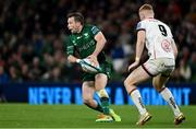 23 October 2021; Jack Carty of Connacht in action against Nathan Doak of Ulster during the United Rugby Championship match between Connacht and Ulster at Aviva Stadium in Dublin. Photo by Brendan Moran/Sportsfile