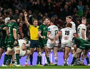 23 October 2021; Jack Carty of Connacht celebrates a turnover during the United Rugby Championship match between Connacht and Ulster at Aviva Stadium in Dublin. Photo by David Fitzgerald/Sportsfile