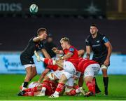 23 October 2021; Craig Casey of Munster during the United Rugby Championship match between Ospreys and Munster at Liberty Stadium in Swansea, Wales. Photo by Gruffydd Thomas/Sportsfile