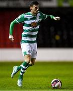 23 October 2021; Aaron Greene of Shamrock Rovers during the SSE Airtricity League Premier Division match between Longford Town and Shamrock Rovers at Bishopsgate in Longford. Photo by Seb Daly/Sportsfile