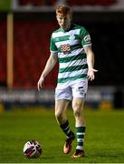 23 October 2021; Rory Gaffney of Shamrock Rovers during the SSE Airtricity League Premier Division match between Longford Town and Shamrock Rovers at Bishopsgate in Longford. Photo by Seb Daly/Sportsfile