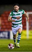 23 October 2021; Richie Towell of Shamrock Rovers during the SSE Airtricity League Premier Division match between Longford Town and Shamrock Rovers at Bishopsgate in Longford. Photo by Seb Daly/Sportsfile
