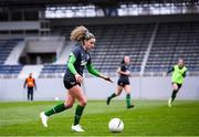 24 October 2021; Leanne Kiernan during a Republic of Ireland Women training session at Leppavaara Stadium in Helsinki, Finland. Photo by Stephen McCarthy/Sportsfile