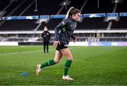 25 October 2021; Jamie Finn during a Republic of Ireland Women training session at Helsinki Olympic Stadium in Helsinki, Finland. Photo by Stephen McCarthy/Sportsfile