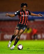 25 October 2021; Promise Omochere of Bohemians during the SSE Airtricity League Premier Division match between Bohemians and Waterford at Dalymount Park in Dublin. Photo by Seb Daly/Sportsfile