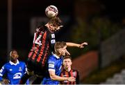 25 October 2021; Conor Levingston of Bohemians in action against Cameron Evans of Waterford during the SSE Airtricity League Premier Division match between Bohemians and Waterford at Dalymount Park in Dublin. Photo by Seb Daly/Sportsfile