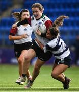 26 October 2021; Aoife Shakespeare of Midlands is tackled by Orla McDonald of North Midlands during the Sarah Robinson Cup First Round match between North Midlands and Midlands at Energia Park in Dublin. Photo by David Fitzgerald/Sportsfile