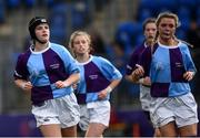 26 October 2021; Melissa Quirke of South East, left, during the Sarah Robinson Cup First Round match between South East and Metro at Energia Park in Dublin. Photo by David Fitzgerald/Sportsfile
