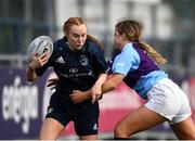 26 October 2021; Robyn Hyland of Metro is tackled by Robyn O'Connor of South East during the Sarah Robinson Cup First Round match between South East and Metro at Energia Park in Dublin. Photo by David Fitzgerald/Sportsfile