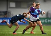 26 October 2021; Aoife Nixon of South East is tackled by Hannah Scanlan of Metro during the Sarah Robinson Cup First Round match between South East and Metro at Energia Park in Dublin. Photo by David Fitzgerald/Sportsfile