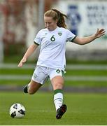 26 October 2021; Muireann Devaney of Republic of Ireland during the UEFA Women's U19 Championship Qualifier Group 5 Qualifying Round 1 League A match between Northern Ireland and Republic of Ireland at Jackman Park in Markets Field, Limerick. Photo by Eóin Noonan/Sportsfile