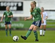 26 October 2021; Abbie McHenry of Northern Ireland during the UEFA Women's U19 Championship Qualifier Group 5 Qualifying Round 1 League A match between Northern Ireland and Republic of Ireland at Jackman Park in Markets Field, Limerick. Photo by Eóin Noonan/Sportsfile