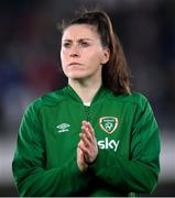26 October 2021; Lucy Quinn of Republic of Ireland before the FIFA Women's World Cup 2023 qualifying group A match between Finland and Republic of Ireland at Helsinki Olympic Stadium in Helsinki, Finland. Photo by Stephen McCarthy/Sportsfile