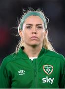 26 October 2021; Denise O'Sullivan of Republic of Ireland before the FIFA Women's World Cup 2023 qualifying group A match between Finland and Republic of Ireland at Helsinki Olympic Stadium in Helsinki, Finland. Photo by Stephen McCarthy/Sportsfile