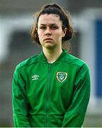 26 October 2021; Della Doherty of Republic of Ireland during the UEFA Women's U19 Championship Qualifier Group 5 Qualifying Round 1 League A match between Northern Ireland and Republic of Ireland at Jackman Park in Markets Field, Limerick. Photo by Eóin Noonan/Sportsfile