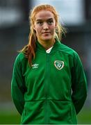 26 October 2021; Shauna Brennan of Republic of Ireland during the UEFA Women's U19 Championship Qualifier Group 5 Qualifying Round 1 League A match between Northern Ireland and Republic of Ireland at Jackman Park in Markets Field, Limerick. Photo by Eóin Noonan/Sportsfile