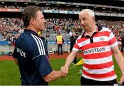 27 July 2013; Galway manager Alan Mulholland, left, shakes hands with Cork manager Conor Counihan at the end of the game. GAA Football All-Ireland Senior Championship, Round 4, Cork v Galway, Croke Park, Dublin. Picture credit: David Maher / SPORTSFILE