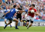 3 August 2013; Matthew Donnelly, Tyrone, in action against  Neil McAdam, Monaghan. GAA Football All-Ireland Senior Championship, Quarter-Final, Monaghan v Tyrone, Croke Park, Dublin. Picture credit: Oliver McVeigh / SPORTSFILE