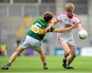 4 August 2013; Pádraig McGirr, Tyrone, in action against Matthew Flaherty, Kerry. Electric Ireland GAA Football All-Ireland Minor Championship, Quarter-Final, Kerry v Tyrone, Croke Park, Dublin. Picture credit: Paul Mohan / SPORTSFILE