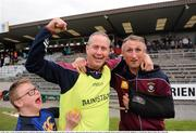 25 May 2016; A young Westmeath supporter celebrates with manager Adrian Moran and selector Darren McCormack, right during the Bord Gais Energy Leinster U21 Hurling Quarter Final in Cusack Park, Mullingar, Co. Westmeath. Photo by Danny Boyce/Sportsfile