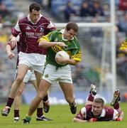 2 May 2004; Eoin Brosnan, Kerry, in action against Joe Bergin and Sean Og De Paor, right, Galway. Allianz National Football League 2004, Division 1 Final, Kerry v Galway, Croke Park, Dublin. Picture credit; Damien Eagers / SPORTSFILE