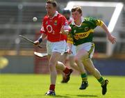 16 May 2004; Mickey O'Connell, Cork, in action against John Egan, Kerry. Guinness Munster Senior Hurling Championship, Cork v Kerry, Pairc Ui Chaoimh, Cork. Picture credit; Brendan Moran / SPORTSFILE