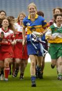 3 June 2004; Joanne Ryan, captain of reigning champions Tipperary, leads fellow captains at the launch of the Foras na Gaeilge Senior All Ireland Camogie Championship, Croke Park, Dublin. Picture credit; Damien Eagers / SPORTSFILE